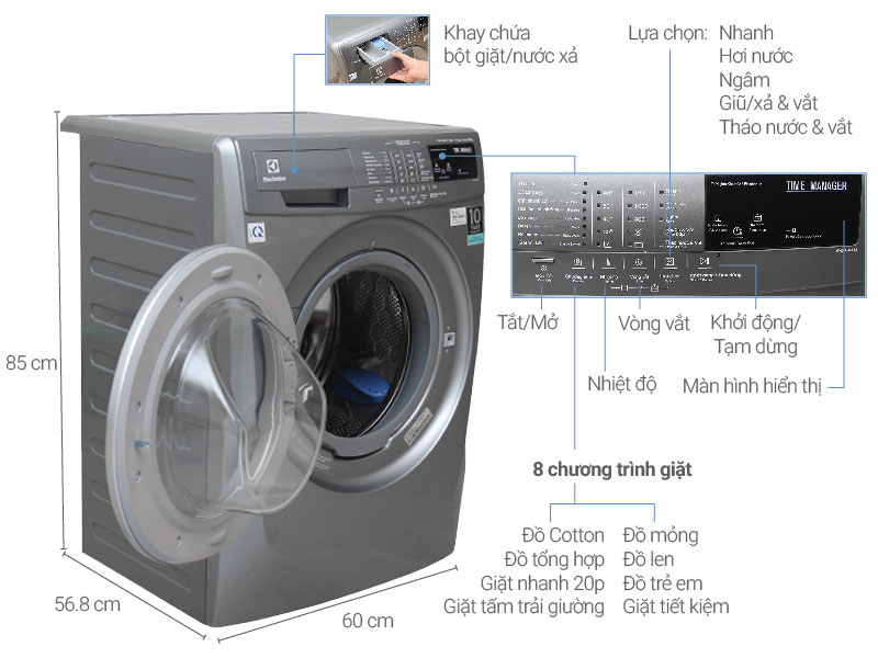 Top 10 máy giặt lồng ngang được đánh giá là sản phẩm tốt nhất và bán chạy nhất hiện nay 7