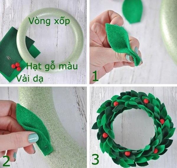 Hướng dẫn bạn làm đồ trang trí Noel cực đẹp đơn giản, dễ làm giúp Noel thêm ý nghĩa 1