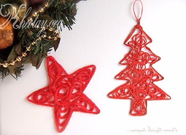 Hướng dẫn bạn làm đồ trang trí Noel cực đẹp đơn giản, dễ làm giúp Noel thêm ý nghĩa 9